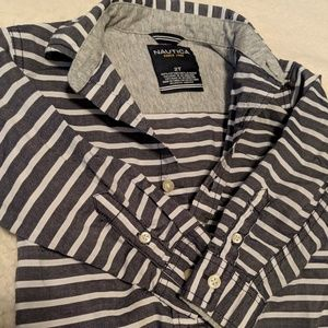 Nautica Shirts & Tops - ⭐Nautica⭐Long Sleeve Button Down..2T⭐Like New!